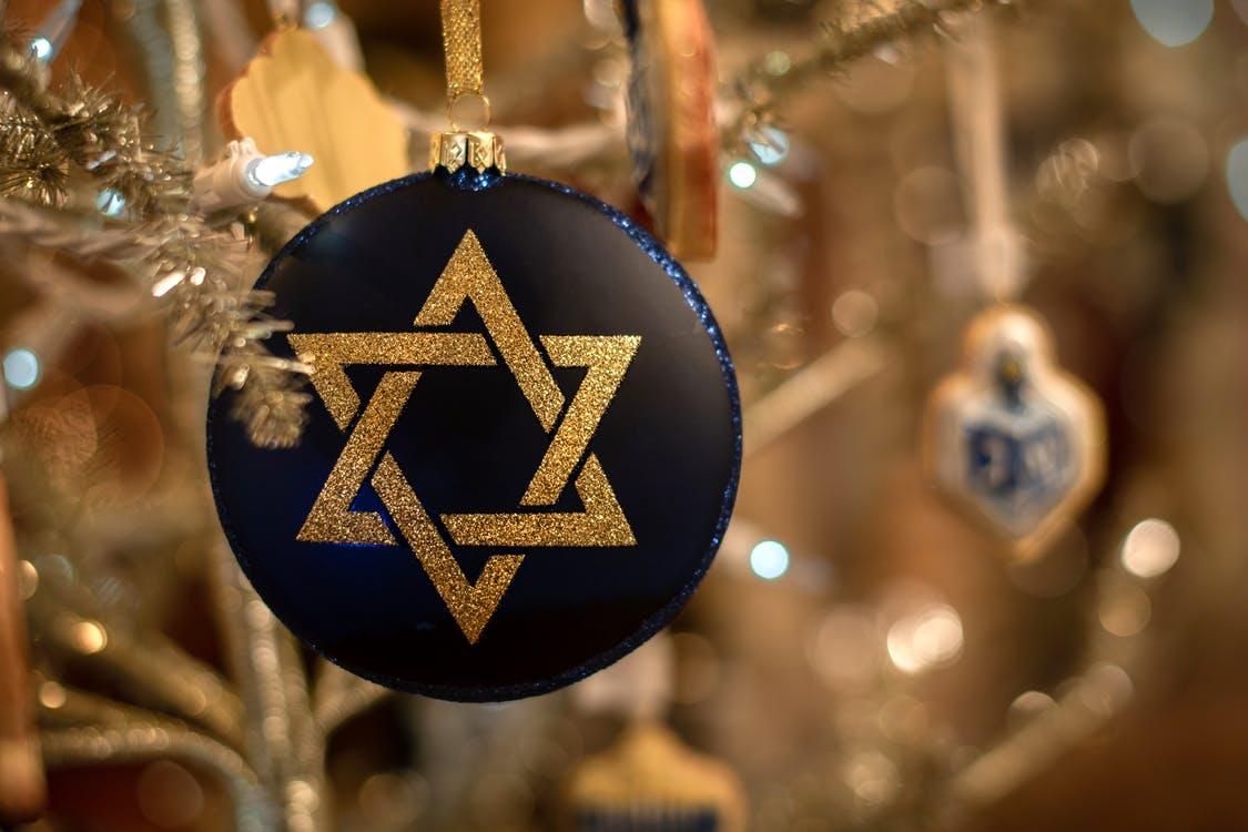 Close-Up Photo of Star of David Ornament