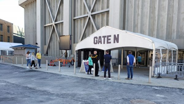 Syracuse University students enter the Carrier Dome COVID-19 testing site on Wednesday, April 7, 2021. Syracuse University began administering doses of the Johnson & Johnson vaccine the same day.