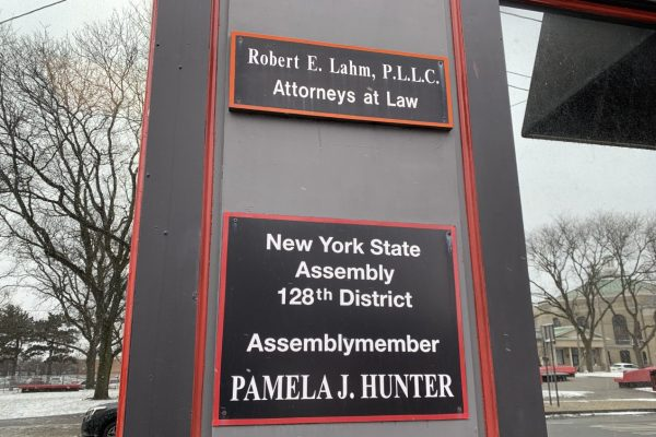 The office of assemblywoman Pamela Hunter on East Genesee Street.