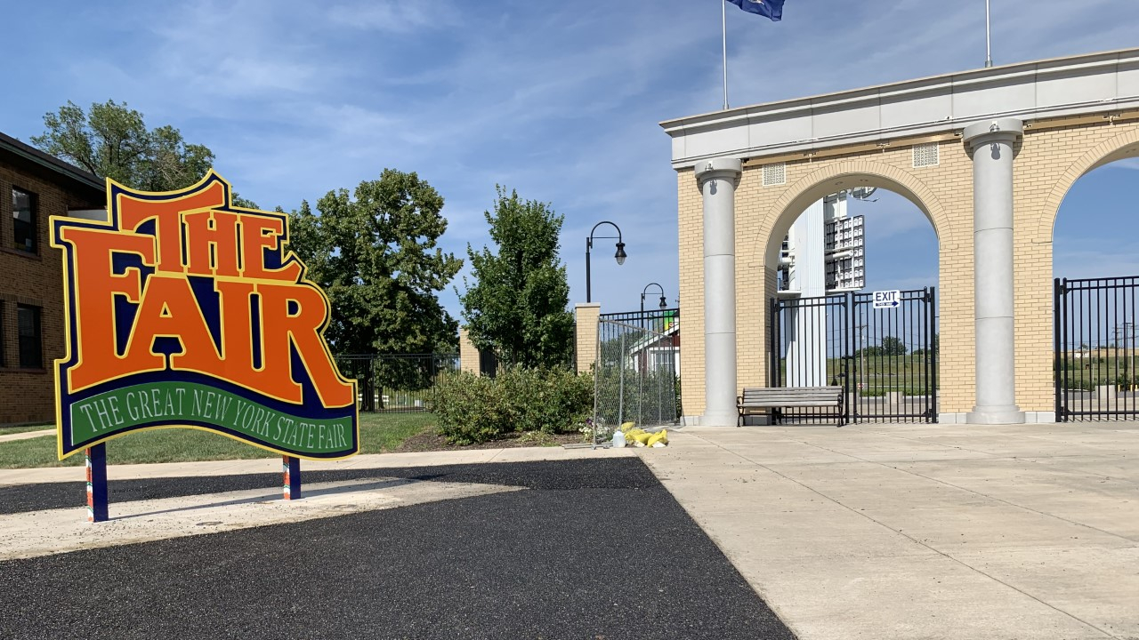This is the sign near the administration building of the New York State Fair.