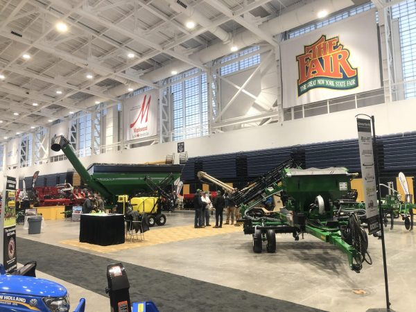 Tractors on display at the farm show