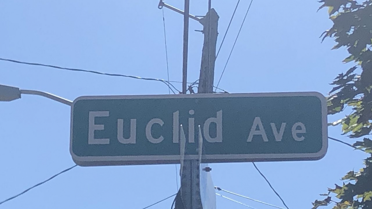 Euclid Avenue Street sign